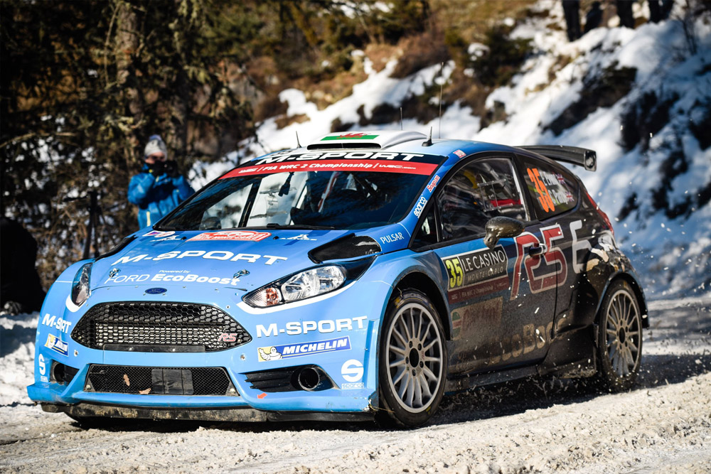 EVANS AND FORD FIESTA R5 EVO DOMINATE WRC 2