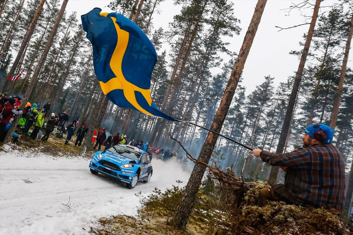 Rally Swedish Flags