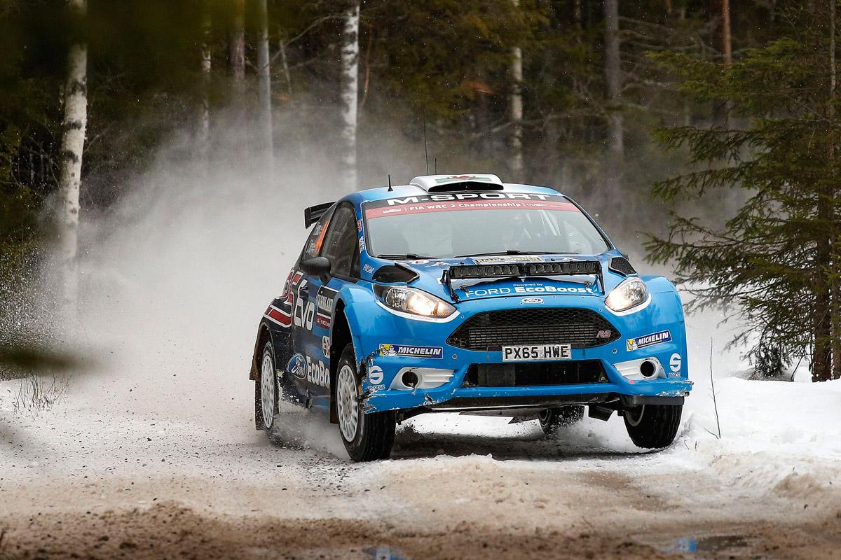 EVANS LEADS FIESTA 1-2-3 IN WRC 2