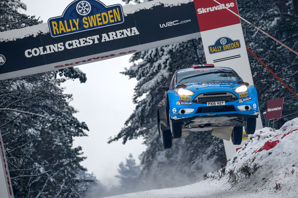 EVANS LEADS THE WAY IN WRC 2