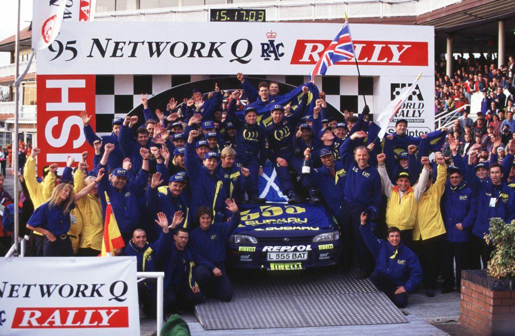 Goodridge plumbed 555 Subaru Impreza driven by Colin McRae MBE, won the 1995 World Rally Championship.