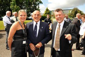Goodridge 40th anniversary celebrations – Trudi Goodridge, Sir Stirling Moss and Stuart Goodridge
